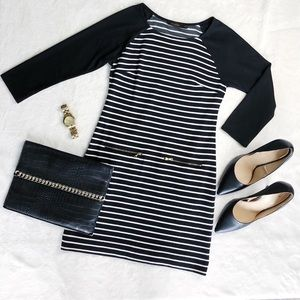 The Limited Black and white stripe dress